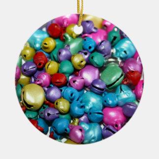 Ornamento coloreado de las bolas de la lata adorno navideño redondo de cerámica