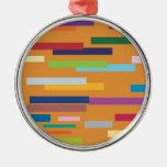 Ornamento coloreado de las rayas ornaments para arbol de navidad