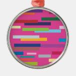 Ornamento coloreado de las rayas ornamento de navidad