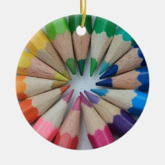 Ornamento coloreado de los lápices adorno de navidad