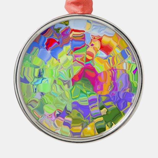 Ornamento colorido abstracto de los cubos de hielo ornamente de reyes