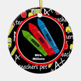 Ornamento colorido de 3 de los creyones navidad ornatos