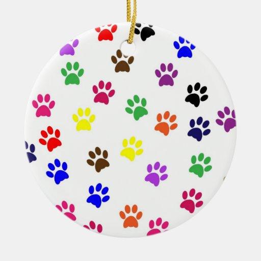 Ornamento colorido de la diversión del mascota del adorno navideño redondo de cerámica