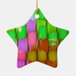 Ornamento colorido de la estrella ornamento para reyes magos