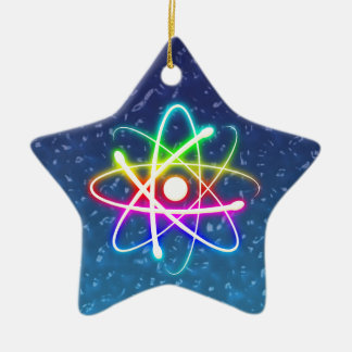 Ornamento colorido del átomo del navidad que ornamentos de reyes magos