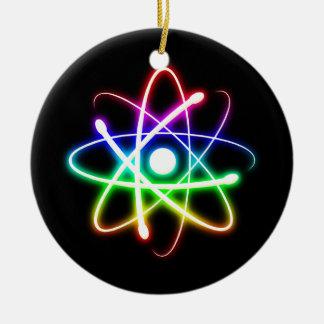 Ornamento colorido del átomo que brilla adorno para reyes