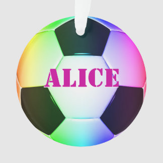 Ornamento colorido del fútbol del fútbol de Person