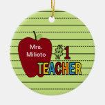 Ornamento colorido del navidad del profesor #1 adornos de navidad