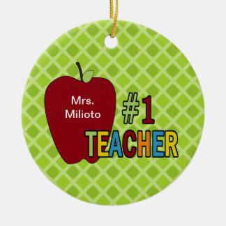 Ornamento colorido del navidad del profesor #1 adorno para reyes