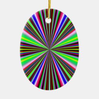 Ornamento colorido del óvalo de los rayos ornamentos de reyes magos
