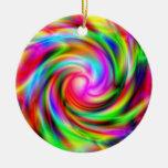 Ornamento colorido del remolino ornamento de navidad
