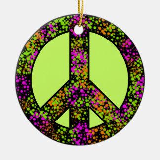 Ornamento colorido del signo de la paz ornamentos de reyes