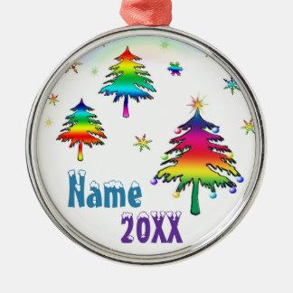 Ornamento colorido lindo personalizado de los árbo ornaments para arbol de navidad