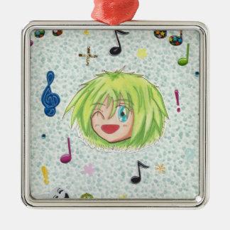 Ornamento cómico de Kawaii Chibi Izumi Adorno Navideño Cuadrado De Metal