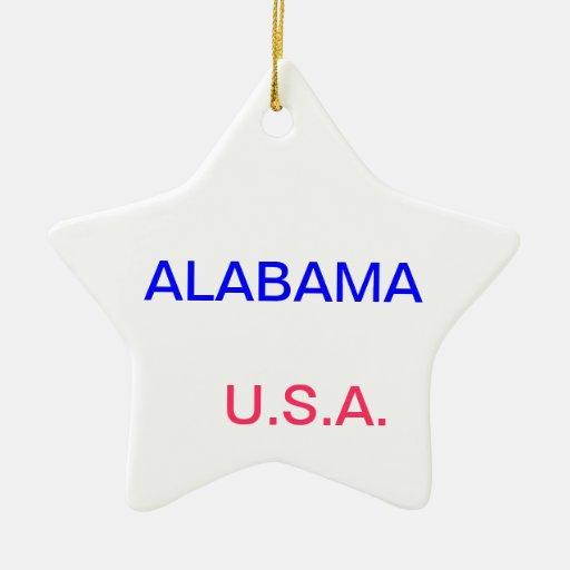 Ornamento con Alabama y Montgomery Ornamento De Navidad