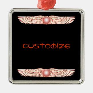 Ornamento con alas Anunnaki sumerio del disco de S Ornamento Para Arbol De Navidad
