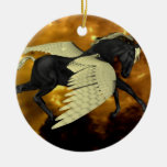 Ornamento con alas de oro   de Pegaso Adorno Para Reyes
