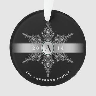 Ornamento con clase del navidad del copo de nieve
