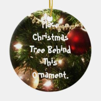 Ornamento con direcciones adorno navideño redondo de cerámica