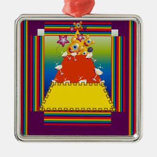 ¡Ornamento con diseño abstracto de las pastillas Adorno Para Reyes