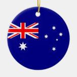 Ornamento con la bandera de Australia Adorno Navideño Redondo De Cerámica