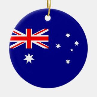 Ornamento con la bandera de Australia Adorno Redondo De Cerámica