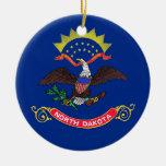 Ornamento con la bandera de Dakota del Norte Ornamente De Reyes
