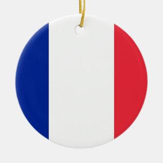 Ornamento con la bandera de Francia Adorno Redondo De Cerámica