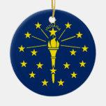 Ornamento con la bandera de Indiana Ornamento De Navidad