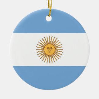 Ornamento con la bandera de la Argentina Ornamentos De Reyes Magos