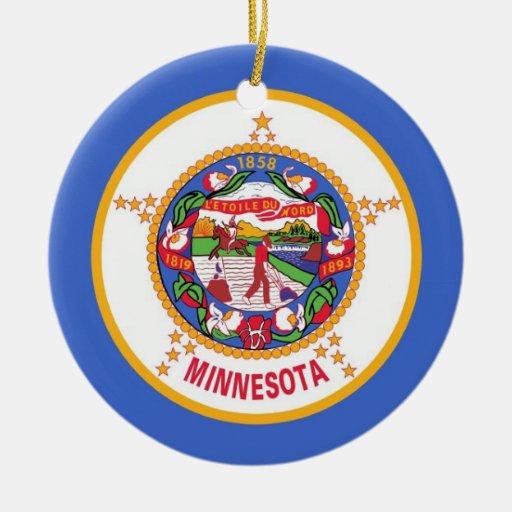 Ornamento con la bandera de Minnesota Ornamentos Para Reyes Magos