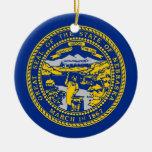 Ornamento con la bandera de Nebraska Adorno