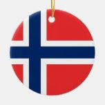 Ornamento con la bandera de Noruega Adornos De Navidad