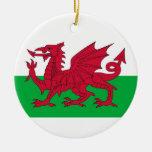 Ornamento con la bandera de País de Gales Ornamentos Para Reyes Magos