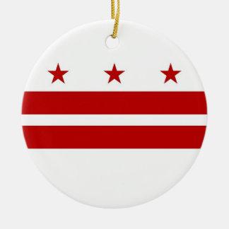 Ornamento con la bandera del Washington DC Ornaments Para Arbol De Navidad