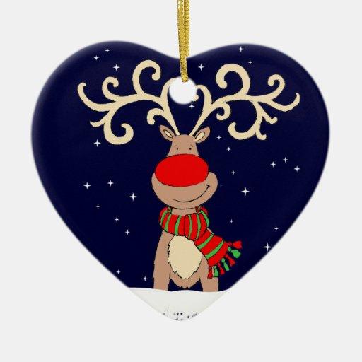 Ornamento con la nariz roja de la Nochebuena del r Adornos
