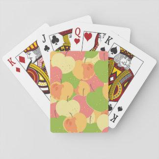 Ornamento con las manzanas barajas de cartas