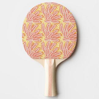 Ornamento con los oídos del trigo pala de tenis de mesa