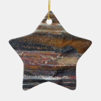Ornamento congregado de la formación del hierro adorno navideño de cerámica en forma de estrella