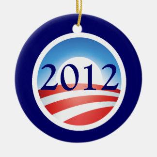 Ornamento conmemorativo de Obama 2012 Ornamentos De Navidad