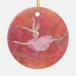 Ornamento conmemorativo del ballet del cascanueces adorno navideño redondo de cerámica