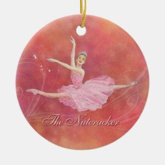 Ornamento conmemorativo del ballet del cascanueces adorno redondo de cerámica