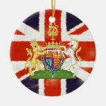 Ornamento conmemorativo del boda real británico ornamente de reyes