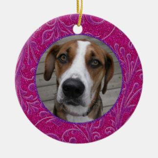 Ornamento conmemorativo del navidad de la foto del ornamentos de navidad