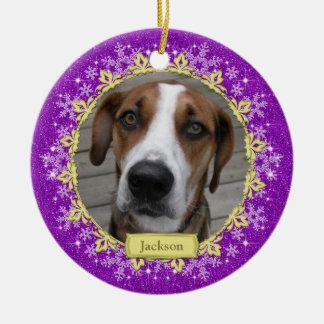 Ornamento conmemorativo del navidad de la foto del adorno de navidad
