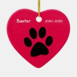 Ornamento conmemorativo del navidad del perro case ornamentos de reyes