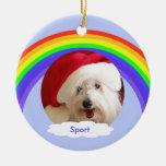 Ornamento conmemorativo del navidad del perro case ornaments para arbol de navidad