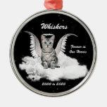 Ornamento conmemorativo personalizado gato del ornamento para arbol de navidad