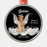 Ornamento conmemorativo personalizado perro del na adorno para reyes