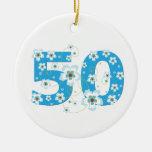 ornamento conocido personalizado 50.o cumpleaños d adornos de navidad